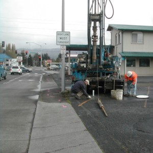 drilling rig in urban area